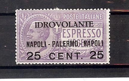 ITALIE REGNO 1917  MI 127 Yv PA 2  Sass A2  * MH - Airmail