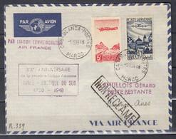 Brief Van Casablanca-Postes Maroc Naar Buenos Aires (Argentinie) Lemullois Gerard Poste Restante - Briefe U. Dokumente