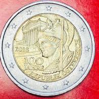 AUSTRIA - 2018 - Moneta - 100° Anniversario Della Repubblica D'Austria - Statua Di Pallade Atena - Euro - 2.00 - Austria