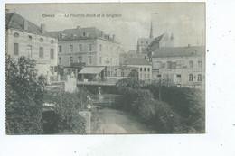 Ciney Pont St Roch Et Le Leignon ( Il Existe Une Vue Assez Similaire Avec Un Homme Sur Le Pont  Et Un Arbre Au Centre  ) - Ciney