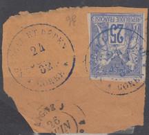 #154 COLONIES GENERALES N° 36 Oblitéré En Bleu Gorée Sénégal Et Dépendances (Sénégal) - Sage