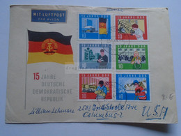 AV652.22  DDR Germany  Airmail  Cover  Sent From FREITAL  1964 To  Columbus  OH - Cartas