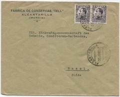 1932 Carta De Alcantarilla (Murcia) A Basilea - Briefe U. Dokumente
