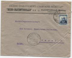 1932 Carta De Alcantarilla (Murcia) A Basilea - 1931-50 Cartas