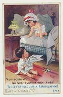 Carte Humour Fantaisie Enfants - Tu Lis L'article Sur La Repopulation ? - Signé RIGHT - Otros Ilustradores