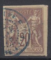 #154 COLONIES GENERALES N° 32 Oblitéré En Bleu Morne-à-l'Eau (Guadeloupe) - Sage