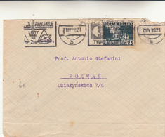 Varsavia To Poznan, Cover 1936 - Briefe U. Dokumente