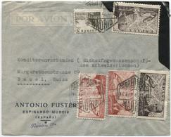 1946 Carta Aérea De Madrid A Basilea - 1931-50 Cartas