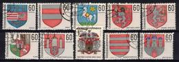 Tchécoslovaquie 1968 Mi 1819-28 (Yv 1669-78), Obliteré, - Usados