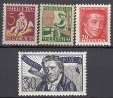 SCHWEIZ 222-225, Postfrisch **, Pro Juventute: Pestalozzi 1927 - Unused Stamps
