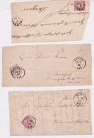 North German Confederation-1869-71 2 X 1 Gr Rose Perf 14 And 1 X 1 Gr Rose Rouletted Hanau Postmarked Cover Fronts - Norddeutscher Postbezirk (Confederazione Germ. Del Nord)