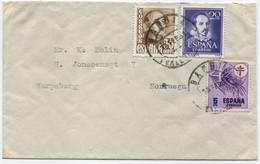1951 Carta De Gandía (Valencia) A Noruega - 1931-50 Cartas