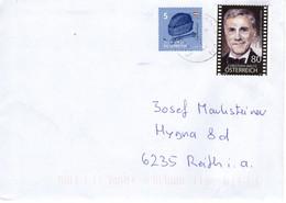 Brief Von 8130 Frohnleiten Mit 85 Cent Mischfrankatur Christoph Waltz 2021 - 2011-... Cartas