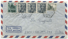 1951 Carta Aérea De Sevilla A Suiza - 1931-50 Cartas