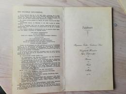 Esschen Essen Feestmaal Ter Gelegenheid Van De Plechtige Inhuldiging Van Het Nieuwe Gemeentehuis 1953 - Menükarten