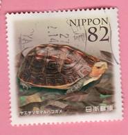 2014 GIAPPONE Tartaruga Chinese Box Turtle (Cuora Flavomarginata Evelynae) - 82 Y Usato - Schildpadden