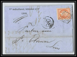 1208 LAC Lettre (cover) N°16 Lyon Rhone Pc 1818 Type Napoléon 3 Pour Saint Etienne Loire - 1849-1876: Periodo Classico