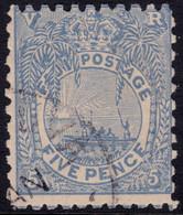 ✔️  Fiji 1890/1896 - Boat And Palm - Mi. 33 (o) Used - €11 - Fidschi-Inseln (...-1970)