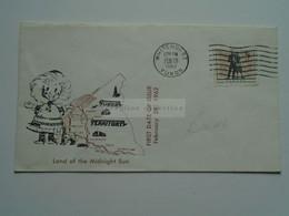 AV653.6   CANADA   Cover  -FDC  1962  Yukon Territory  Dawson  - White Horse - Teslin - Midnight Sun - Briefe U. Dokumente