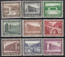 DR  634-642, Postfrisch *, WHW: Moderne Bauten 1936 - Ongebruikt