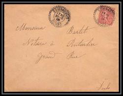 4556 France Lettre N°129 Semeuse Sombacourt Doubs Pour Pontarlier 20/6/1906 - 1877-1920: Semi-moderne Periode