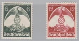 DR  586-587 X, Postfrisch *, Reichsparteitag 1935 - Ongebruikt
