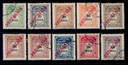 ! ! Mozambique Company - 1911 Postage Due (Complete Set) - Af. P 11 To P 20 - Used - Mozambique