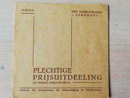 Turnhout Sint Jozefscollege - Plechtige Prijsuitdeling 1933 - Programmi