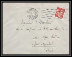 5945 TYPE Iris N° 652 1945 DIJON COTE D OR Pour L'Abbé Thomas Miribel Ain Lettre (cover) - 1939-44 Iris