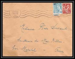 5975 Iris N° 652 + Mercure N° 660 1945 Orne Pour L'Abbé Thomas Miribel Ain Lettre (cover) - 1939-44 Iris
