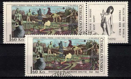 Tchécoslovaquie 1969 Mi 1869+Zf (Yv 1716+vignette), Obliteré, - Usados