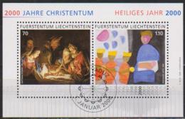 Lichtenstein 2000 MiNr.1224 - 1225 Block 17  2000 Jahre Christentum ( 3441 )günstige Versandkosten - Used Stamps