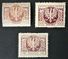 1923 Adler Auf Großen Schild Mi. 178*), 179*), 191*) - Unused Stamps