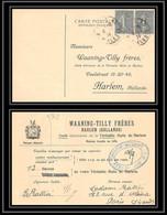 9342 Entete Huile Waaning N°130 Semeuse 15c Paire Paris 1924 Harlem Pays-Bas Netherlands France Carte Postale Postcard - 1921-1960: Modern Period