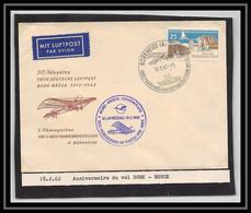 41653 Anniversaire Du Vol De Bork - Bruck 1962 Allemagne (germany DDR) Aviation PA Poste Aérienne Airmail Lettre Cover - Cartas