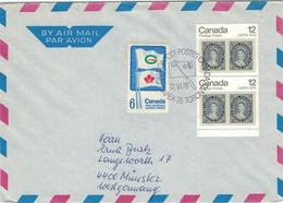 Kanada Spiele - Canada Games - Briefmarke Auf Briefmarke 1978 Toronto - Cartas