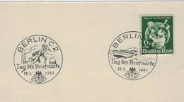 Tag Der Briefmarke - Berlin 1941 - Schiff Flugzeug Bombe - Brieven En Documenten