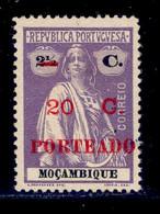 ! ! Mozambique - 1921 Ceres Postage Due 20 C - Af. P 45 - No Gum - Mozambique