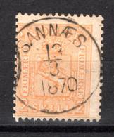 NORWEGEN, 1867, Freimarke Wappen, Gestempelt - Used Stamps