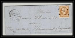 0775- Meulan Yvelines Napoleon N° 13 T1 PC 1980 Pour HANNEUCOURT LAC Lettre Cover France - 1849-1876: Periodo Classico