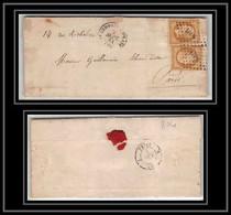 0804- Saint-Germain-en-Laye Yvelines Napoleon N° 13 T2 PC 3094 Paire Cachet De Cire LAC Lettre Cover France - 1849-1876: Periodo Classico