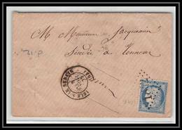 0866 Bourgogne Yonne Cérès N°60 T3 GC L'ISLE-S-LE-SEREIN 8/11/1875 Pour Tonnerre LSC Lettre Cover France - 1849-1876: Periodo Classico