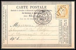 1251 Indre-et-Loire Cérès N°59 GC 1772 La Haye-Descartes BELLE FRAPPE 1874 Carte Postale Précurseur France 1 - 1849-1876: Periodo Classico