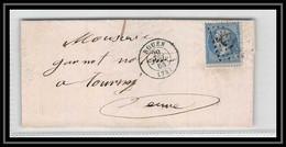 1790 SEINE Napoléon N°22 GC 3219 ROUEN 1864 Pour Tourey Cnvoyeur LAC Lettre Cover France - 1849-1876: Periodo Classico