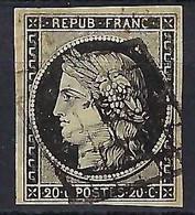 FRANCE: Le Y&T 3 Obl. Grille, Aminci - 1849-1850 Ceres