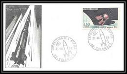 5202/ Espace (space) Lettre (cover) 21/9/1968 Fusée Diamant Satellite A1 France - Europa