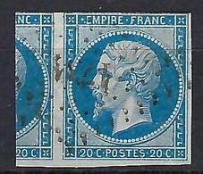 FRANCE: Le Y&T 14B Obl. - 1853-1860 Napoléon III