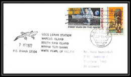 6352/ Espace (space Raumfahrt) Lettre (cover Briefe) 7/12/1972 Loran Station Marcus Island USA - Etats-Unis