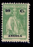 ! ! Angola - 1914 Ceres 20 C (Perf. 12 X 11 1/2)- Af. 153c - MH - Angola