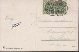 INFLA DR 2x 143 BMeF, Ins Ausland, Auf Ansichtskarte: Köhler In Der Hölle Am Brocken, Gestempelt: Braunlage 10.8.1921 - Infla